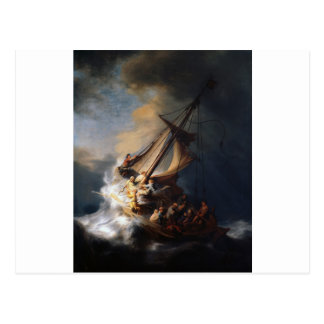 Rembrandt The Storm on the Sea of Galilee Postcard