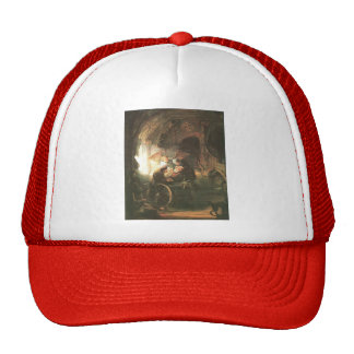 Rembrandt Tobias Cured With His Son Mesh Hat