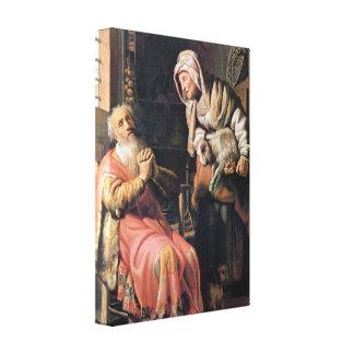 Rembrandt - Tobias sospechó a su esposa del robo Impresiones De Lienzo