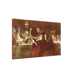 Rembrandt van Rijn - Conspiracy of Batavians Canvas Print