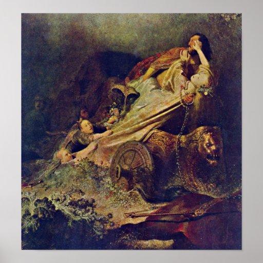 Rembrandt Van Rijn - la abducción de Proserpina Póster