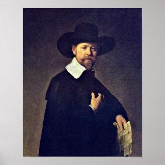 Rembrandt van Rijn - Portrait of Marten Looten Poster