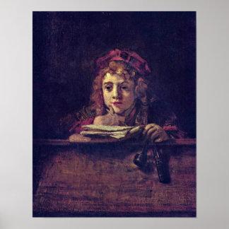 Rembrandt van Rijn - Portrait of Titus Poster
