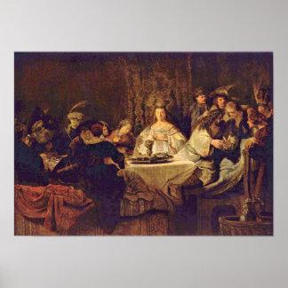 Rembrandt Van Rijn - Samson en la tabla del boda Impresiones
