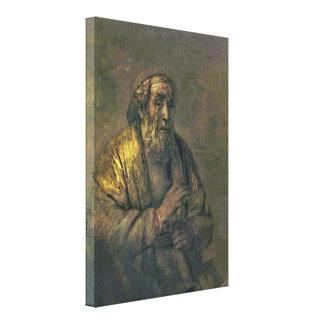 Rembrandt van Rijn - Schoolmaster with his pupil Gallery Wrapped Canvas
