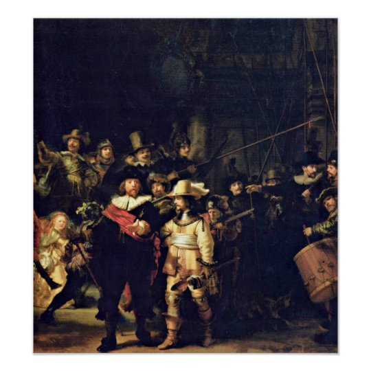 Rembrandt van Rijn - The Night Watch Detail Poster