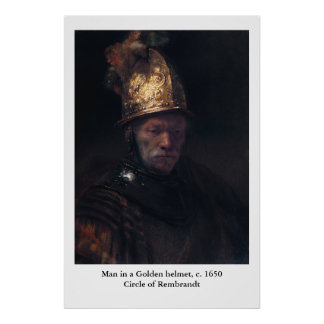 Rembrandt's Man in a Golden helmet Poster