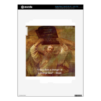 Rembrandt's Moses & Biblical Quote iPad 3 Skin