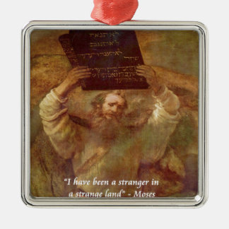 Rembrandt's Moses & Biblical Quote Christmas Tree Ornaments