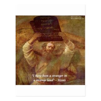 Rembrandt's Moses & Biblical Quote Postcard