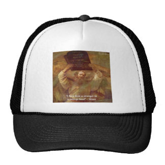 Rembrandt's Moses & Biblical Quote Trucker Hat