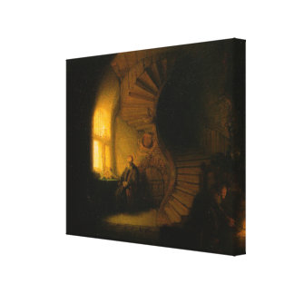 Rembrandt's The Philosopher in Meditation Canvas Print