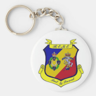 REME Past and Present - Customized Basic Round Button Keychain