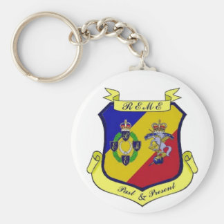 REME Past and Present Basic Round Button Keychain