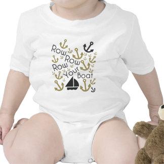 Reme su negro y oro Onseie del barco Trajes De Bebé