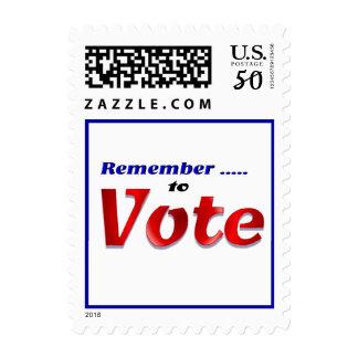 Remeber to Vote Postage