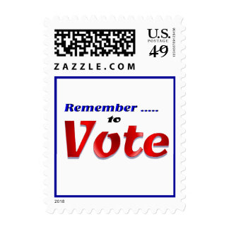 Remeber to Vote Stamps