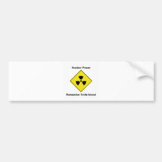 Remember 5-mile Island Anti Nuclear Logo Car Bumper Sticker