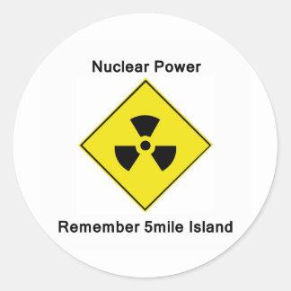Remember 5-mile Island Anti Nuclear Logo Classic Round Sticker