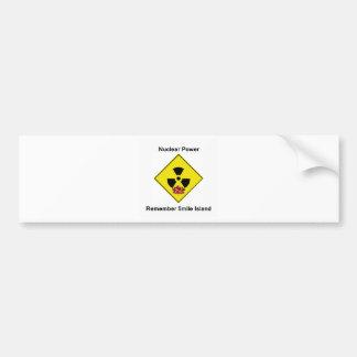 Remember 5mile Island Anti Nuclear Logo Car Bumper Sticker