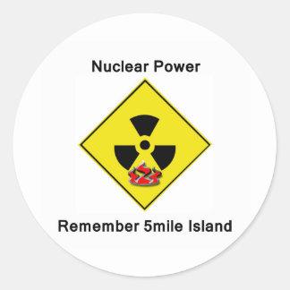 Remember 5mile Island Anti Nuclear Logo Classic Round Sticker
