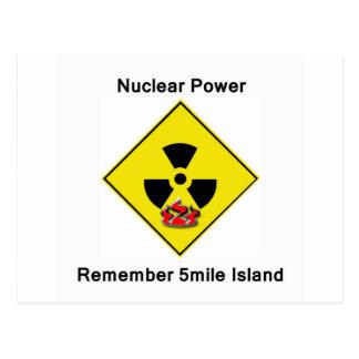 Remember 5mile Island Anti Nuclear Logo Postcard