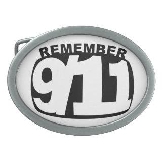 remember 911 belt buckle