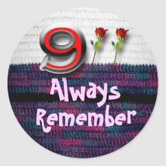 Remember 911 classic round sticker