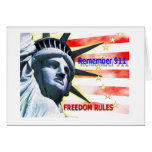 """Remember 911"" Freedom Rules! Cards"