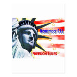 """Remember 911"" Freedom Rules! Postcard"