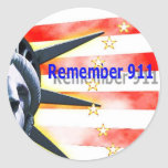 """Remember 911"" Freedom Rules! Round Stickers"