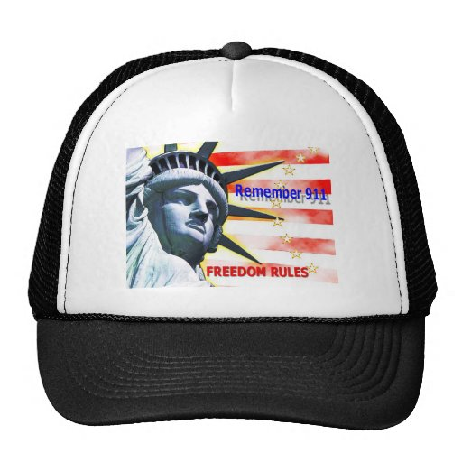 """Remember 911"" Freedom Rules! Trucker Hat"