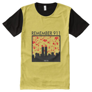 Remember 911 GOLDEN YELLOW All-Over-Print T-Shirt