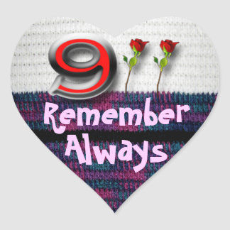Remember 911 heart sticker