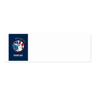 Remember 911 Patriots Day Poster Business Cards