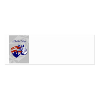 Remember 911  Patriots Day Poster Business Card Template