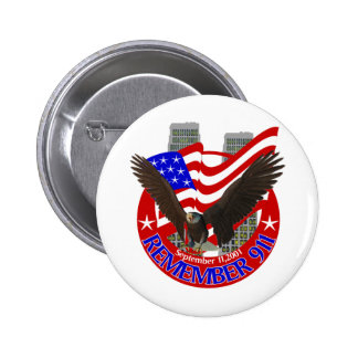 Remember 911 pinback button