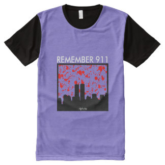 Remember 911 PURPLE & WHITE All-Over-Print Shirt