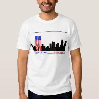 Remember 9-11-01 tee shirt