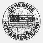 Remember 9/11 classic round sticker