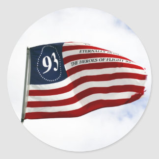 Remember 9/11 - Flight 93 Classic Round Sticker