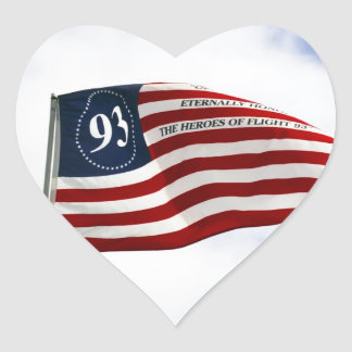 Remember 9/11 - Flight 93 Heart Sticker