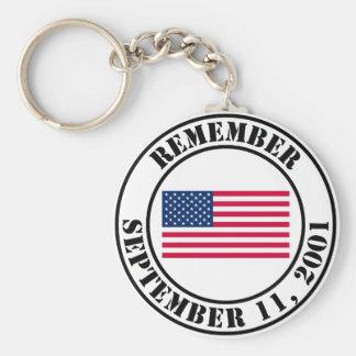 Remember 9/11 key chain