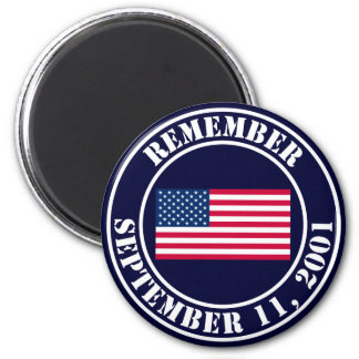 Remember 9/11 2 inch round magnet