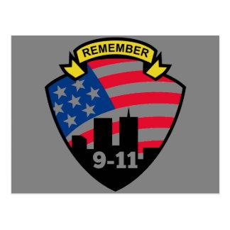 Remember 9-11 postcard