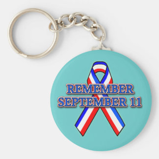 Remember 9/11 Ribbon on Tees, Mugs, Buttons Basic Round Button Keychain