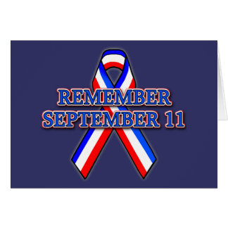 Remember 9/11 Ribbon on Tees, Mugs, Buttons Card