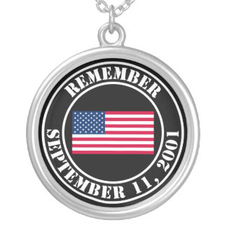 Remember 9/11 silver plated necklace