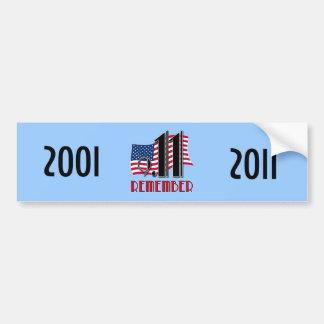 Remember 9/11 Ten Years Later Bumper Sticker