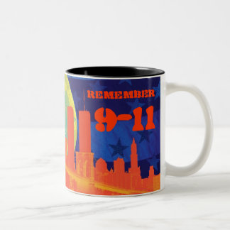 Remember 9-11 Two-Tone coffee mug